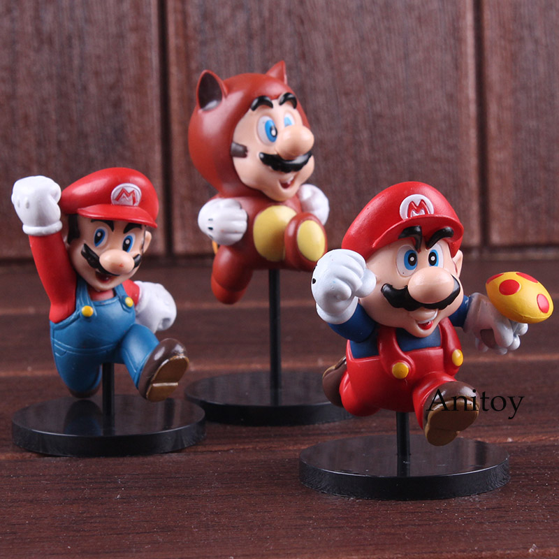 Furuta Ultra Detail Figure New Super Mario Bros.Wii Mario Bros Action Figures MEDICOM TOY Collectible Model Toy 3pcs/set 1