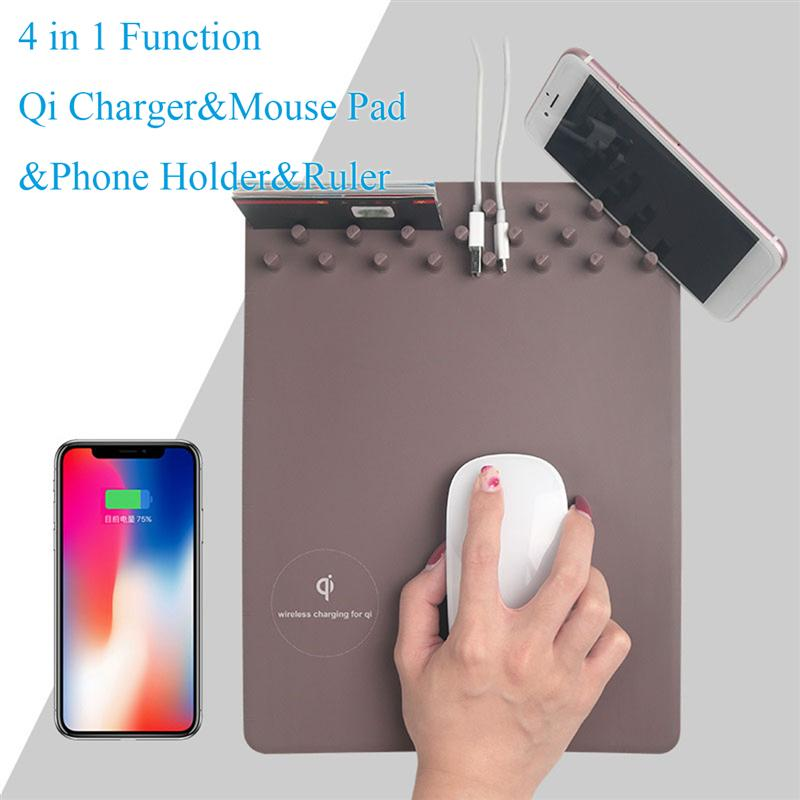 Wirless Charing pad  for Iphone Samsung QI wirless charger  phone  holder Soft Mousepad|Mobile Phone Chargers|   - title=