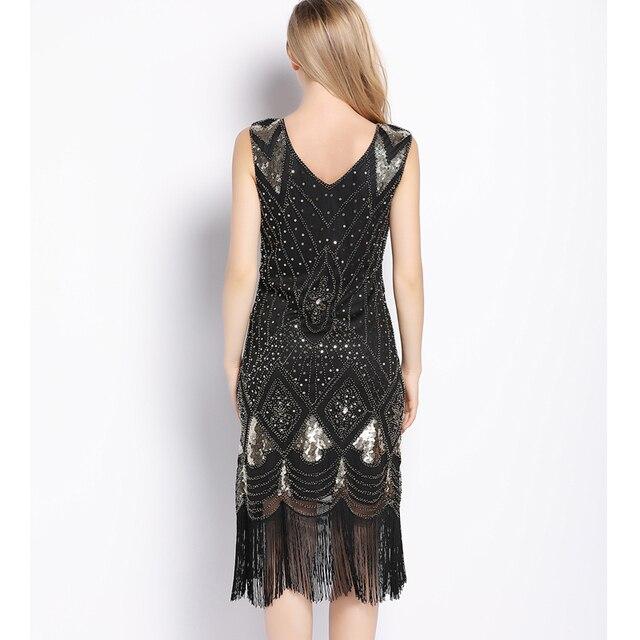 Great Gatsby Deco Style Charleston Fringe Flapper Dress | My Retro ...