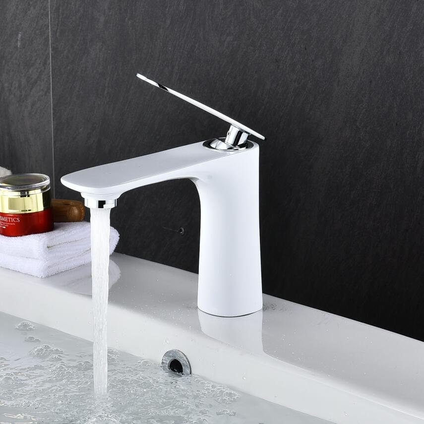 Luxury Wash BasinTap Bathroom Basin Faucet Brass Chrome/Gold/Black/White/Red/Orange Basin Mixer Tap Hot Cold Crane Sink faucet Luxury Wash BasinTap Bathroom Basin Faucet Brass Chrome/Gold/Black/White/Red/Orange Basin Mixer Tap Hot Cold Crane Sink faucet