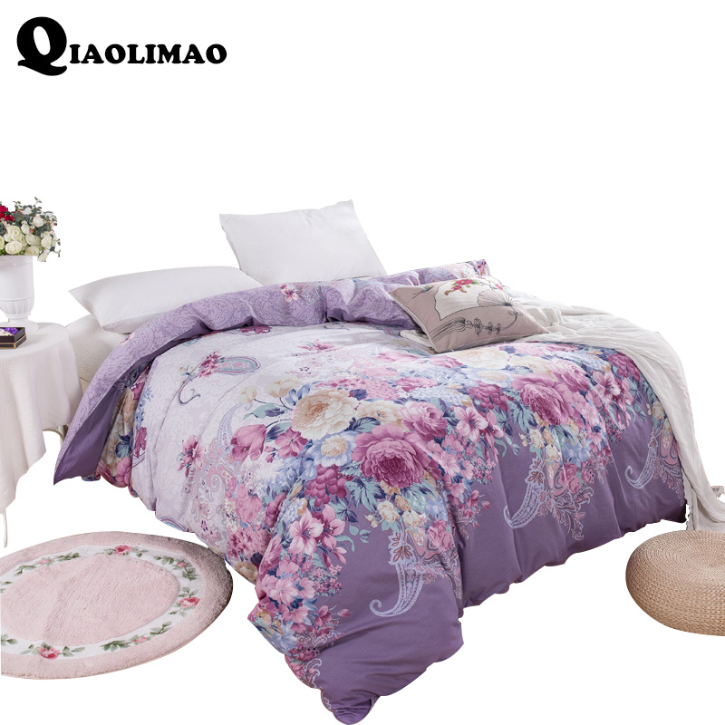 100% Cotton Duvet Cover Comforter/Quilt/Blanket Case 100% Cotton With Zipper Twin Full Queen King Double Single Size A/B Version
