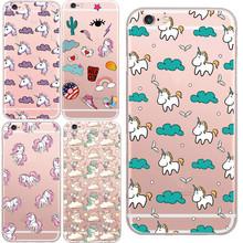 Transparent Unicorn Angel Horse Pattern Cell Phone font b Case b font For iphone 6 6s