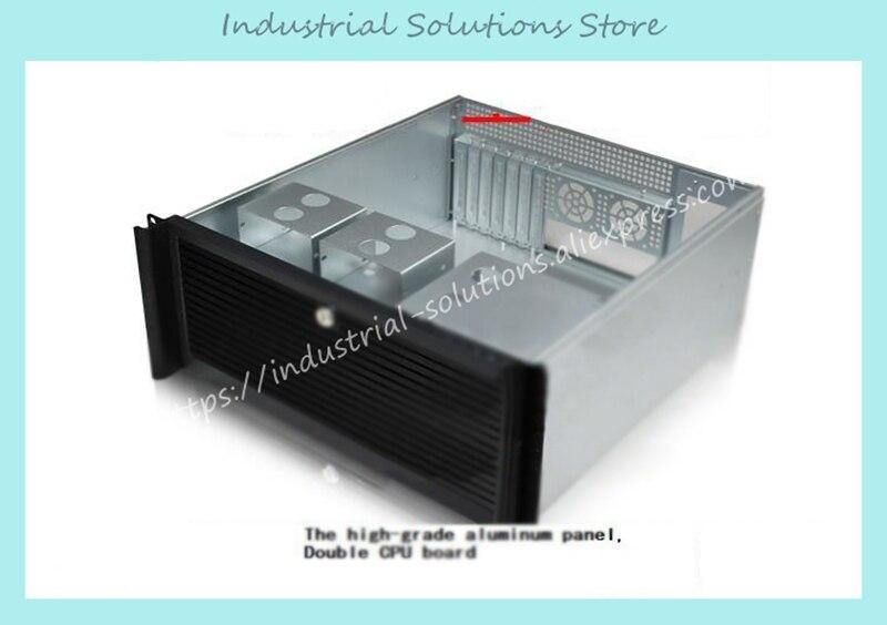 New Quality Aluminum Panel 4U Computer Case Full Open Door Double Server Large-Panel 4U Server Computer Case