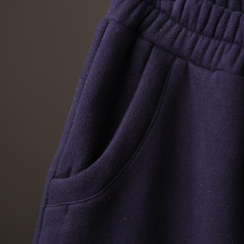 De K1228b Mujeres Versión yellows Coreana Black Gruesas Elástica Las Y Cintura Blue the Invierno Suelta Pantalones 110Twr