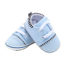Cute Baby Boy Girls Shoes Lace-Up Shoes Kids Soft Sole First Walkers C