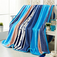 Bedding blankets double face flannel 150*200cm 200*230cm air condition nap blanket star stripe Super Soft Bedding blankets