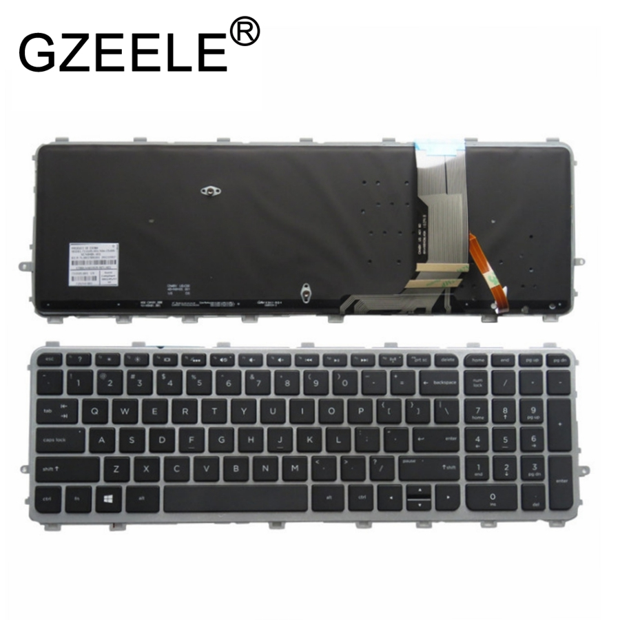 цены GZEELE New for HP ENVY 15-j000er 15-j001er 15z-j000 15t-j100 17T-J100 17T-J000 17-j100 15-j000 Backlit US Laptop Keyboard Frame