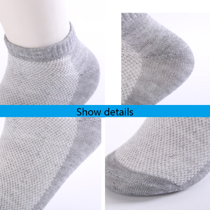 Image 2 - 10 Pairs/lot Summer Men Socks Cotton Casual Antibacterial Breathable Mesh thin section solid color Men socks Male New Short Sock