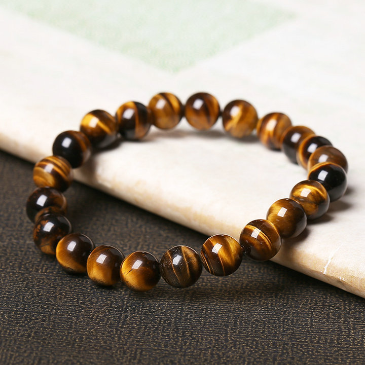 Natural Tiger's Eye Stone Bead Bracelet 3