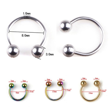 1x Body Piercing Jeweller Horseshoe Septum Piercing Nose Lip Ring Ear Smiley Bar 6 Style For You Choose  vitaly ring