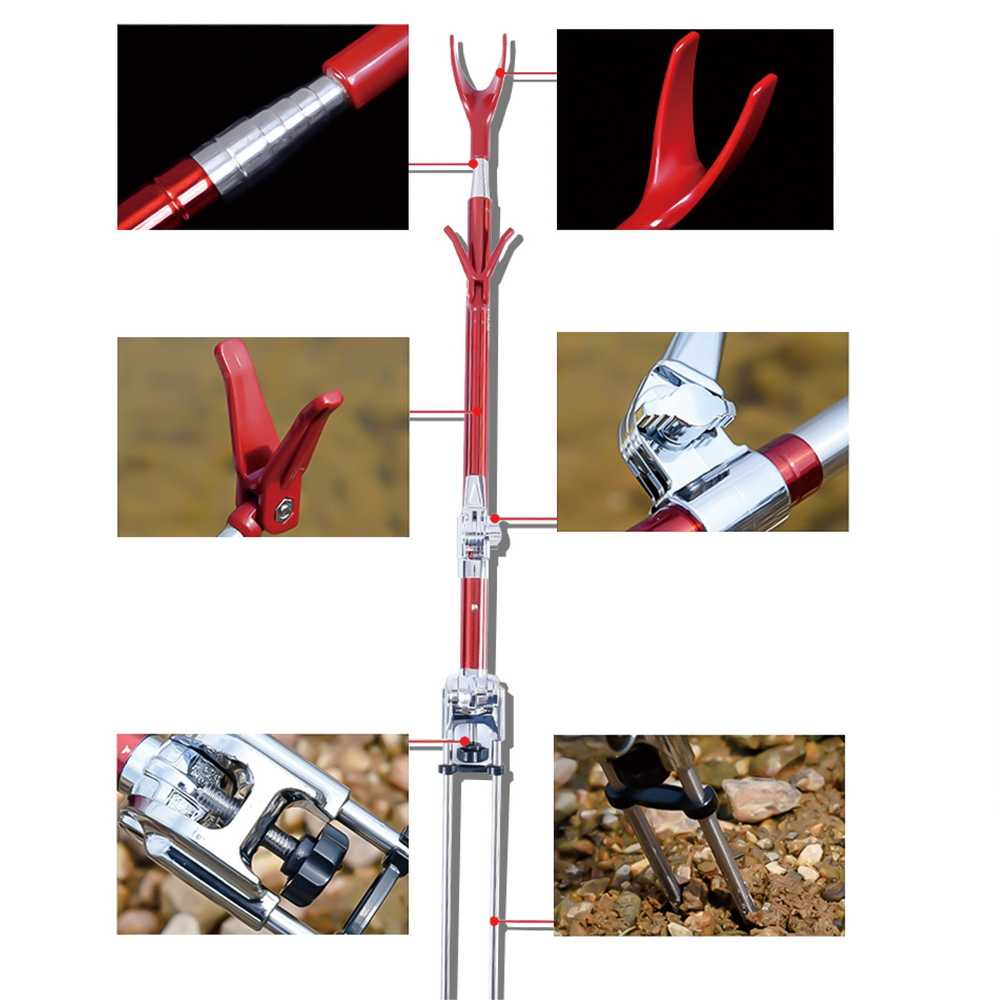 Folding Chair Fishing Pole Holder Plastic Garden Chairs And Table Detail Feedback Questions About Equipment Telescopic Rods Stainless Steel Hand Rod Use With Box