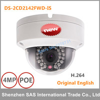 Free Shipping English Version DS 2CD2142FWD IS 4MP Mini Dome Network Cctv Camera P2P 1080p IP