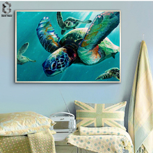 Watercolor Sea Turtle Posters and Prints Wall Art Canvas Painting Pictures For Living Room Childrens Decoration Home Decor