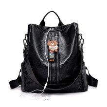 2019 New Leather Vintage Women Backpack Shoulder Bags High Quality Backpack Female Travel Back Pack Sac A Dos Femme women backpack female high quality leather multi pocket school bags for teenage girls sac a dos travel back pack rucksacks