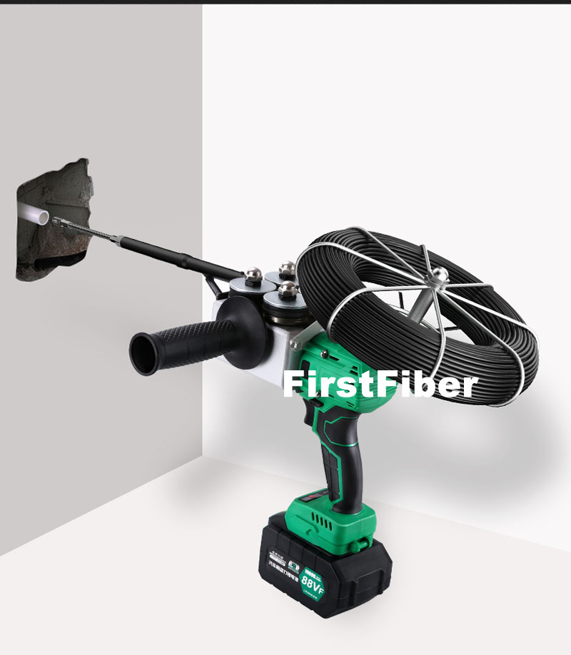 Automatic Electrician Threading Device Electric Cable And Fiber Cable Deployment Machine Insert Cables Into Pipe Tube