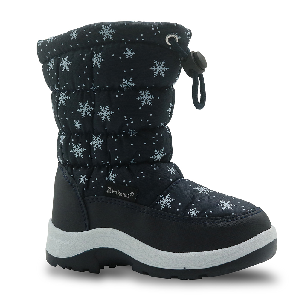 Non-Slip Kids Shoes Winter Snow Boots with Woolen Lining Boys Hiking Snow Boots Durable Little Kid//Big Kid Color : Black , Size : 2 M US Little Kid