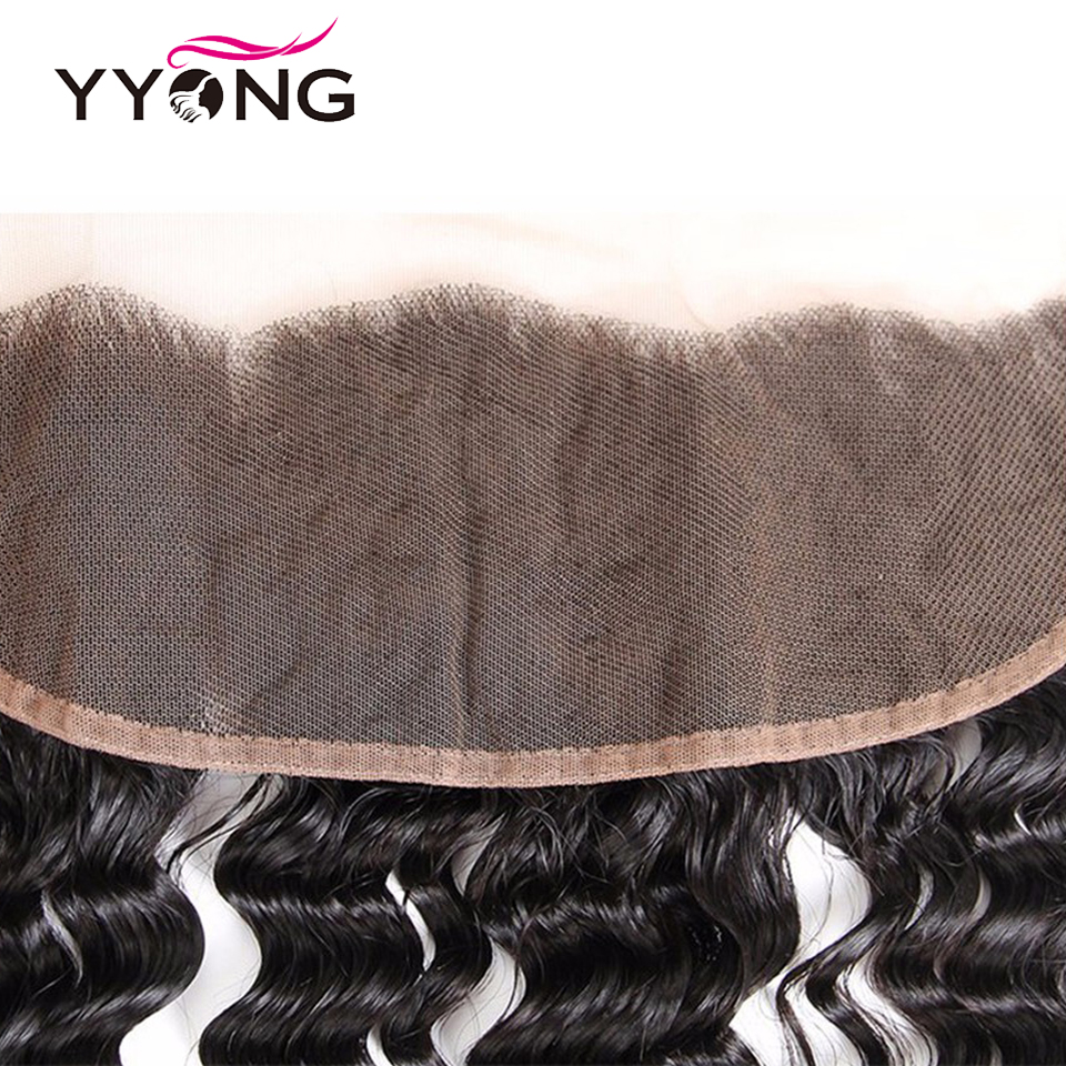 Yyong  Deep Wave  Lace Frontal Closure 13*4 Ear To Ear Free/Middle/Three Part Swiss Lace  Can Be Bleached 4