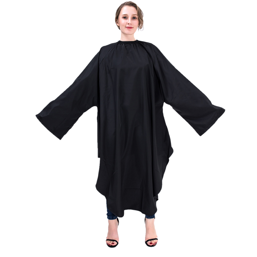 hair styling capes professional black waterproof hairdresser styling gown 6395