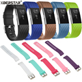 3D Silicone Sports Wrist Bands Strap Watchbands for Fitbit Charge 2 Heart Rate Activity Tracker