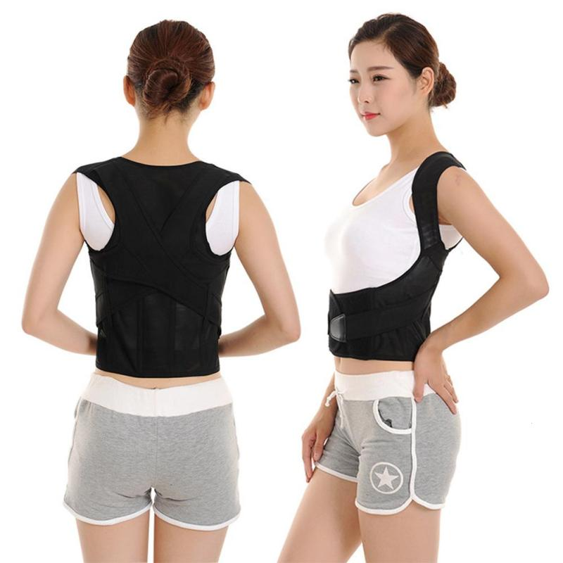 Back Shoulder Support Brace Humpbacked Correction Belt Posture Corrector Vest Straightener Children Adult Correcting Belt L3 back posture correction belt for children beige