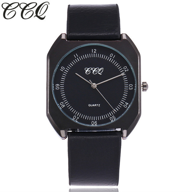 CCQ Brand Simple Ultra Thin Dial Casual Male Quartz Clock New Fashion Luxury Women Watches Man Wristwatches Gift Clock
