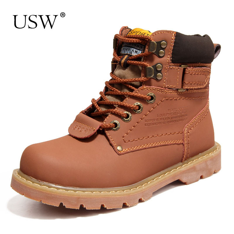 Couple Shoes Autumn Winter Genuine Leather Boots Women Boots Women Ankle Boots Military Full Fur Snow