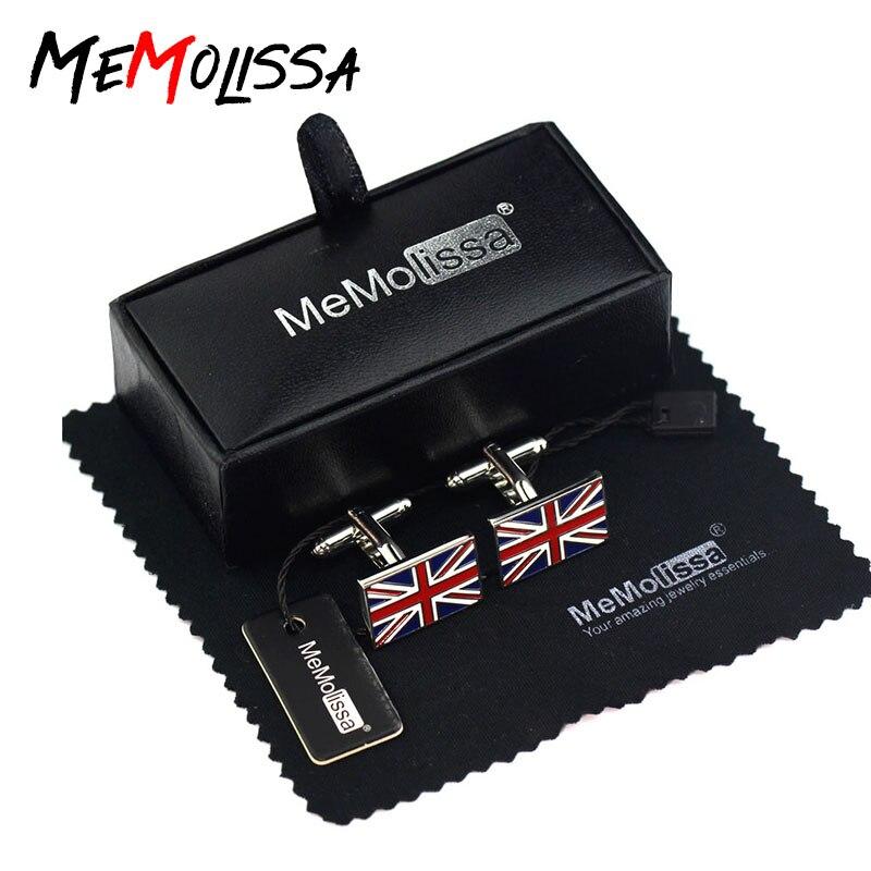 Memolissa Flag Cufflinks Wedding-Gift Fashion Mens Enamel Kingdom UK for United British