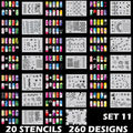 260 DESIGNS Airbrush Nail Art STENCIL Template Kit Paint stamp tool stamping plate image manicure plates 20 Sheets /lot