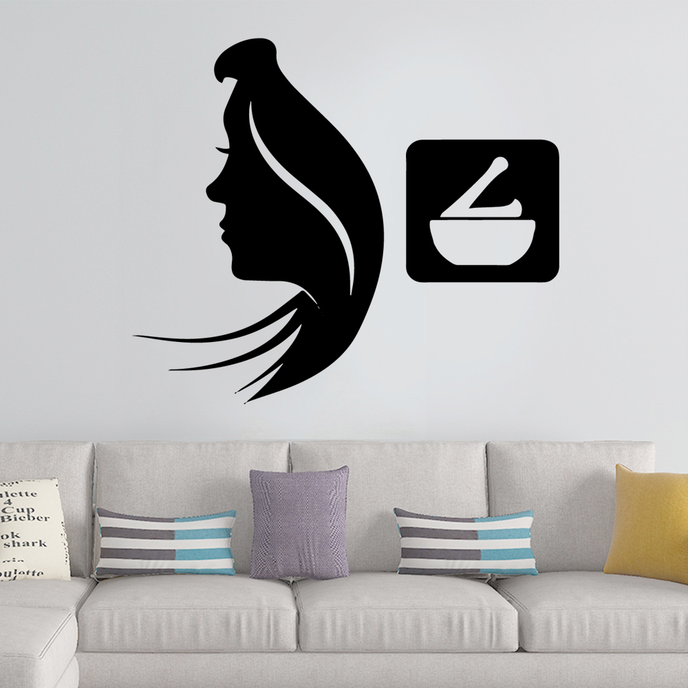 Carved Spa Wall Sticker Self Adhesive Art Decal For Room Stickers Vinyl Mural Barber Shop Wallpaper