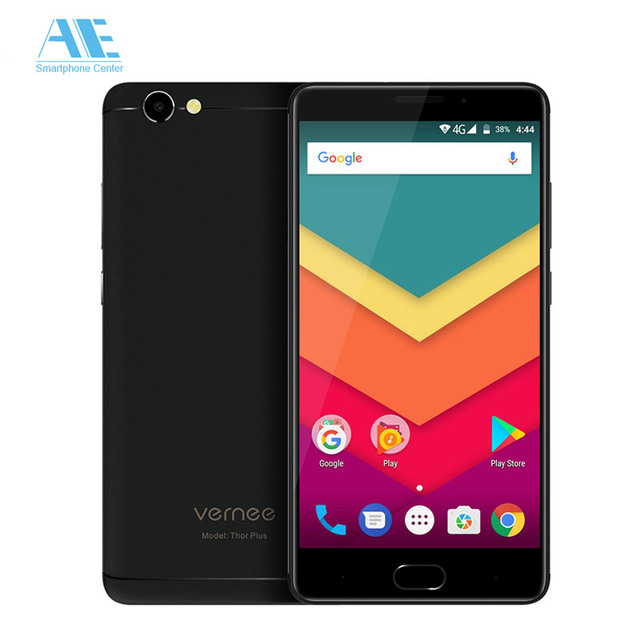 Vernee Thor Plus MT6753 Octa Core 6200mAh Android 7.0 Cellphone 5.5 Inch Fingerprint 3GB RAM 32GB ROM Smartphone 4G Mobile Phone