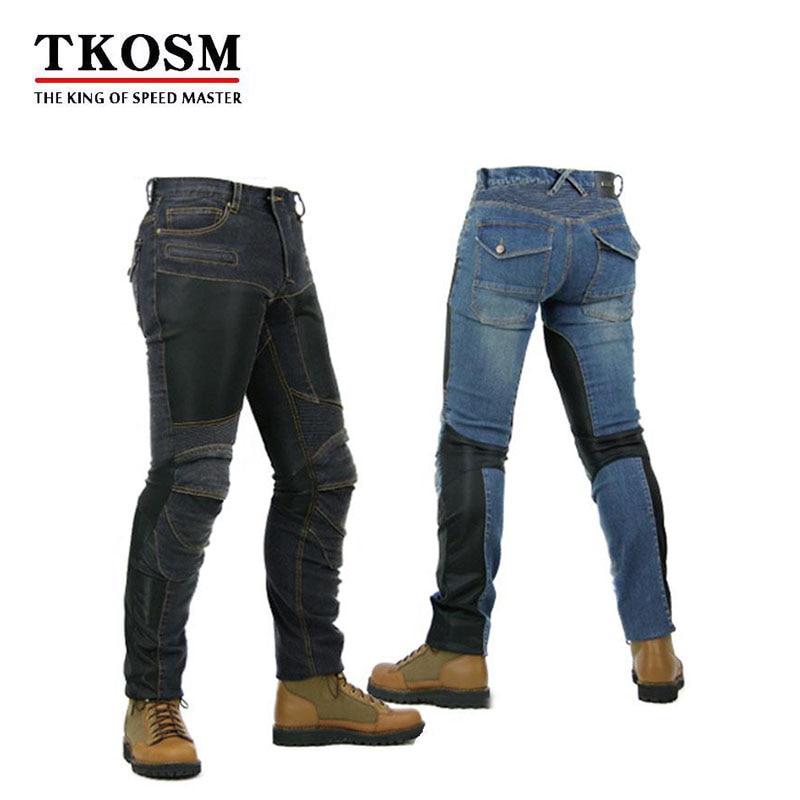 TKOSM 2017 PK 719 Summer Super Fit Mesh Jeans Breathable Motorcycle Pants Off Road Motocross Racing Men Jean