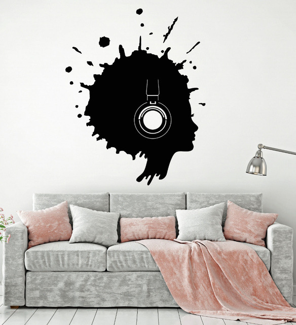 Blot Woman Silhouette Wall Art Stickers Removable Home Decor ...