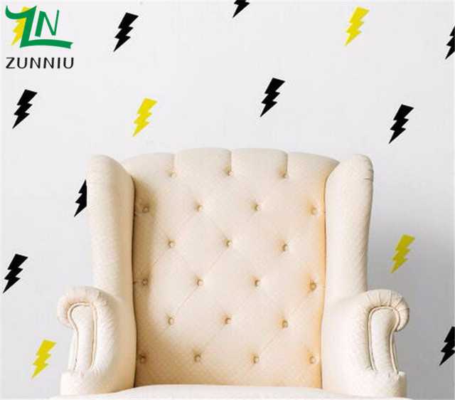P40 DIY Wall Stickers Home Decor For Kids Room Lightning Bolt Flash Pattern Set Of