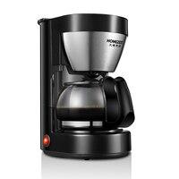 커피 머신 가정용 미국 완전 자동 드립 미니 커피 만들기 차 스테인레스 스틸 쉘 키 조작