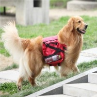 Large Dog Bag Saddle Backpack For Outdoor Hiking Camping Training Pet Carrier Product