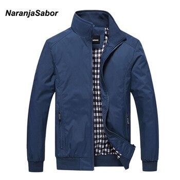 bbb1dc99dfe49 NaranjaSabor 2019 Bahar erkek Ceketler Erkekler Rahat Mont erkek Moda Rüzgarlık  Marka Giyim Erkek Ince Palto Artı Boyutu M ~ 5XL