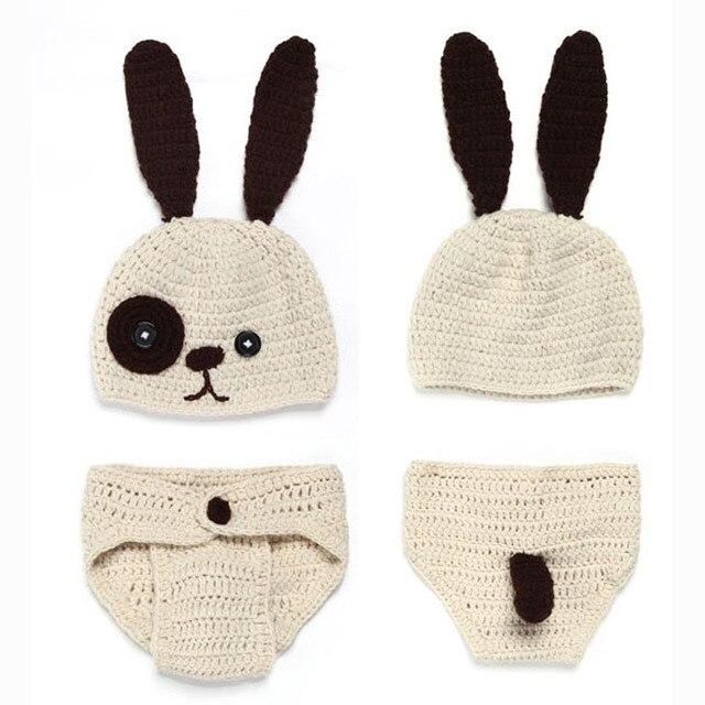 Handgemachte Baby Bunny Hut mit Windel Abdeckung Kostüm Set Häkeln ...