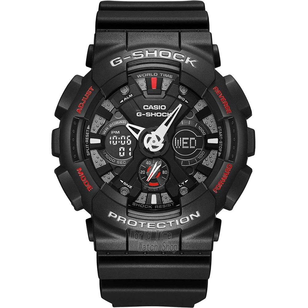 Casio watch Anti - shock outdoor sports double display electronic watch GA-120-1A GA-120A-7A GA-120TR-1A GA-120TR-7A GA-120TR-4A casio ga 120 1a