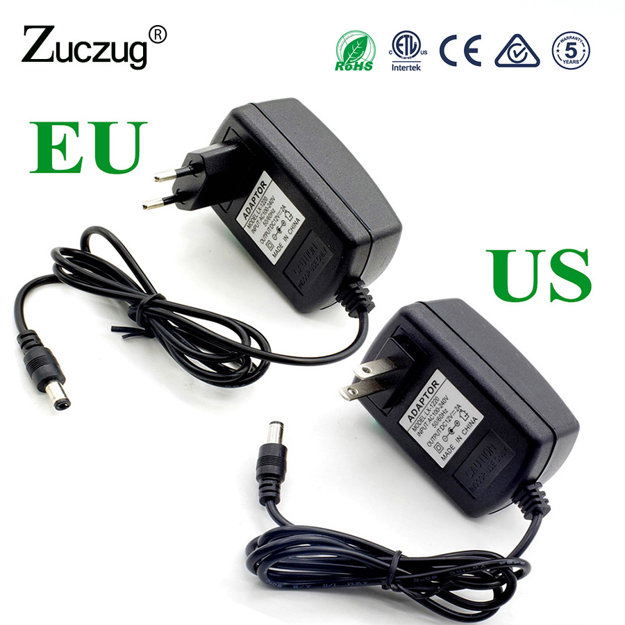 DC 5V 3A 15W LED Power Adapter Supply Switch Charger AC 100~240V Adapter EU Plug US Plug For Led Light Strip SMD 5050 2835 asus ac power charger adapter for a43 f80 n53 k43 z99 x84 t6670 black us plug 100 240v