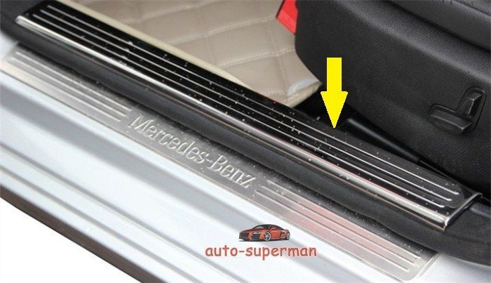 Illuminated door sill led scuff plate for mercedes benz for Mercedes benz illuminated door sills