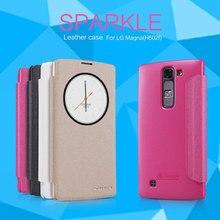 Nillkin Sparkle Мода PU кожаный чехол флип чехол для LG G4c H525N/G4 мини Magna H502F H500F C90 жесткий Сзади случаях умное окно