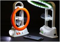 DSstyles 2019 New Gadget Usb Fan Multi Function Rechargeable Mini Fan LED Light Solar Camping Fan Light USB Cable Free Shipping