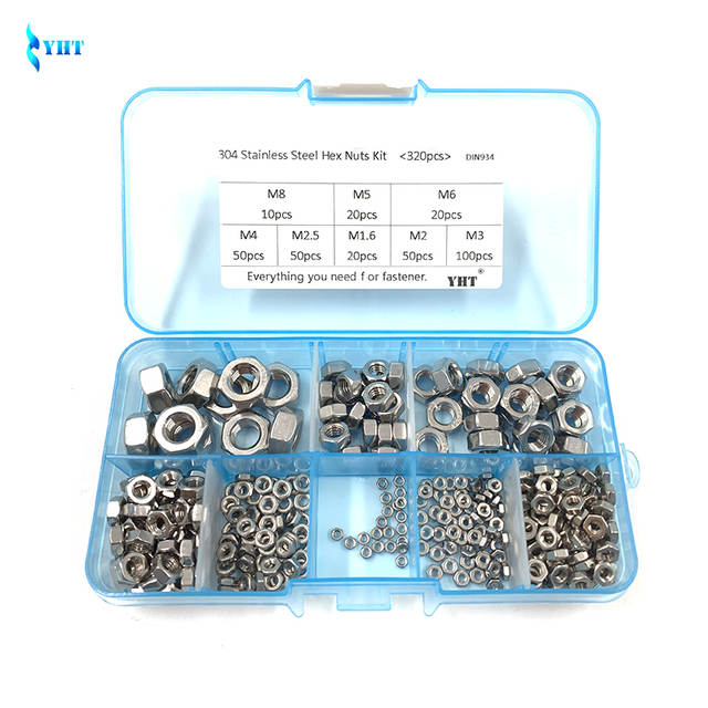 Hot sale 50 Pcs 304 Stainless Steel Hex Nuts Hexagon Nuts M1.6,M2,M2.5  AL