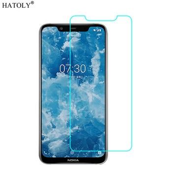 Перейти на Алиэкспресс и купить 2 шт Стекло для Nokia 8,1 защита экрана закаленное стекло для Nokia 8,1/X7 2018 Защитная стеклянная пленка для телефона