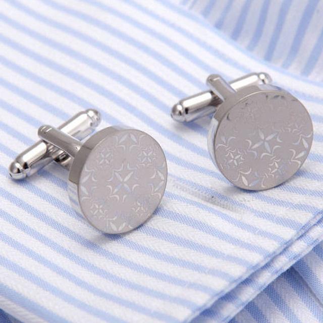 Vagula Cufflinks Excellent Wedding Groom Laser Cuff Links High Jewelry 276