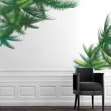 Palm Arbre Vert Feuille Stickers Muraux Tv Fond Salon Décoration Murale  Végétale Art DIY Salon Accueil Stickers PVC Affiches