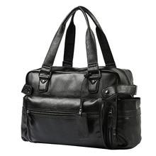 Männer Aktentasche Messenger Schulter Taschen Große Kapazität Handtasche Business Hohe Qualität Leder Computer Taschen Laptop Multifunktions