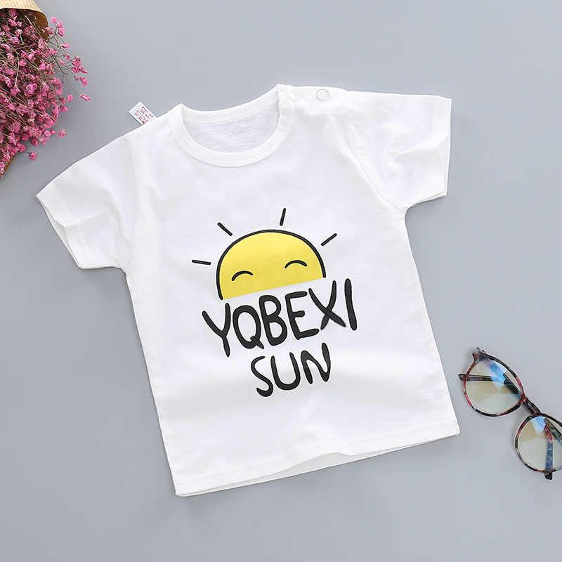 Baby Boys Girls Summer T-shirt Kids Cartoon Animal Donut Tops Tees T Shirt Tshirt Size 1 2 3 4 5 6 Year Children Cotton Clothing