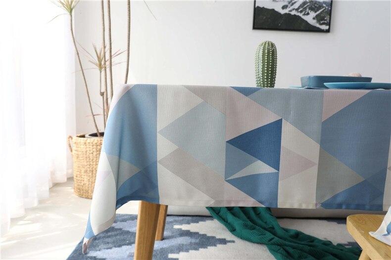 azul geométrico capa de mesa para festa