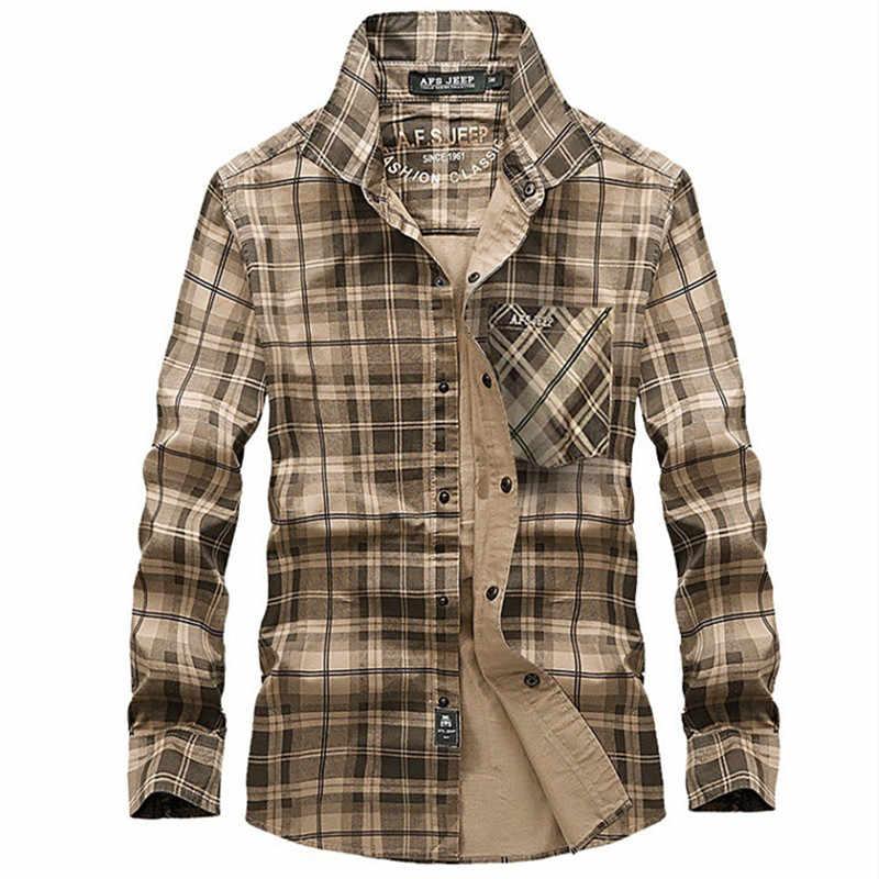 男性チェック柄通気性屋外シャツ長袖綿 100% スポーツ貨物キャンプクライミング男性戦術陸軍夏の服